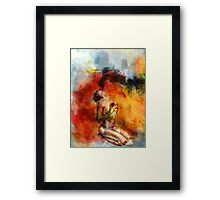 Anguish Framed Print