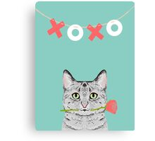 Cat love valentine gift for cat lady cat person gifts cell phone cases with cats Canvas Print