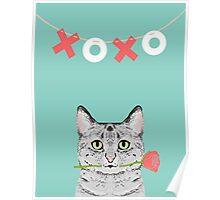 Cat love valentine gift for cat lady cat person gifts cell phone cases with cats Poster