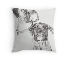 Two Boxers Throw Pillow