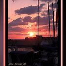 As the Sun Set at Jaffa Port by Nira Dabush