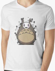Totoro No Face Mens V-Neck T-Shirt