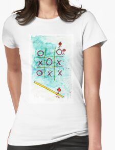 Tic Tac Toc win win Womens Fitted T-Shirt