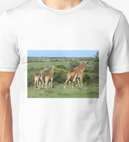 Masai Mara Giraffe Family  Unisex T-Shirt