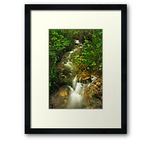 Mountain Ribbon Framed Print
