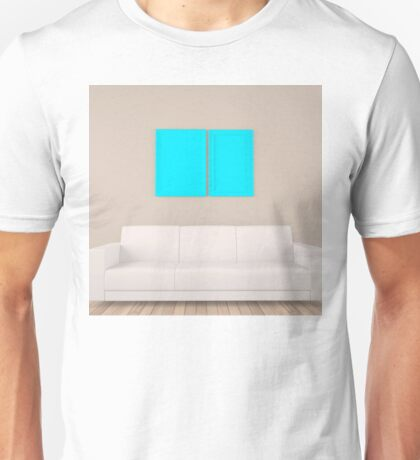 empty frame in room with sofa Unisex T-Shirt