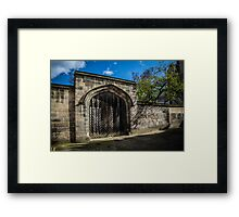 Old Gate in a York Snickelway Framed Print