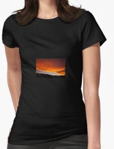 sunset sky Womens Fitted T-Shirt