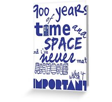 doctor who - 900 years of time and space Greeting Card