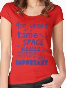 doctor who - 900 years of time and space Women's Fitted Scoop T-Shirt