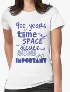 doctor who - 900 years of time and space Womens Fitted T-Shirt
