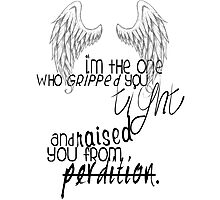 supernatural - castiel quote  Photographic Print