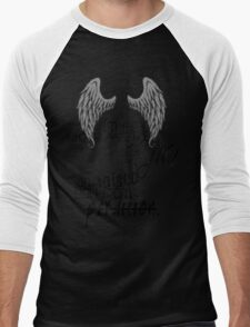 supernatural - castiel quote  Men's Baseball ¾ T-Shirt