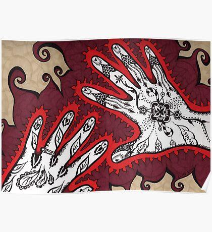 Graceful Hands Poster