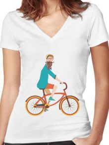 Hipster  Women's Fitted V-Neck T-Shirt
