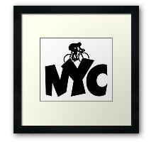 NYC Biking Framed Print
