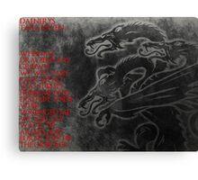 Daenerys Targaryen Mother Of Dragons Canvas Print