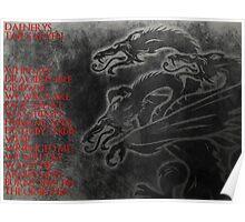 Daenerys Targaryen Mother Of Dragons Poster