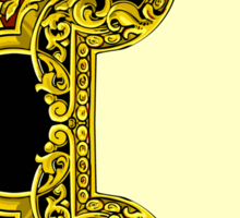 Vintage Gold Baroque Frame Sticker