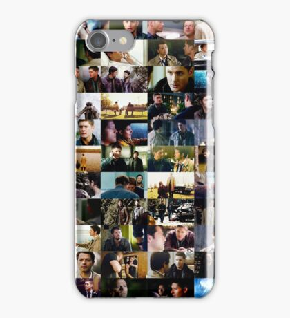supernatural - destiel (dean/castiel) caps iPhone Case/Skin