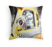 Vintage Taxi Cab Throw Pillow