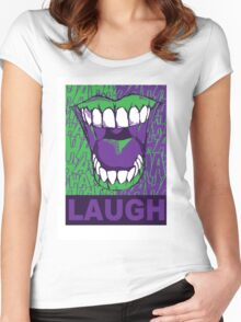 LAUGH purple Women's Fitted Scoop T-Shirt