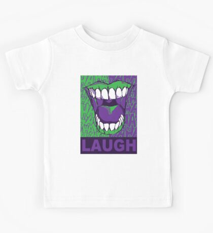 LAUGH purple Kids Tee