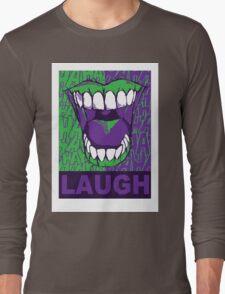 LAUGH purple Long Sleeve T-Shirt