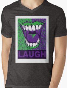 LAUGH purple Mens V-Neck T-Shirt