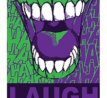 LAUGH purple by SquareDog