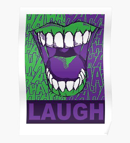LAUGH purple Poster