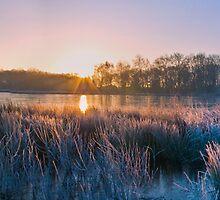 frosty morning sunrise by carlw