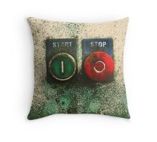 START / STOP Throw Pillow