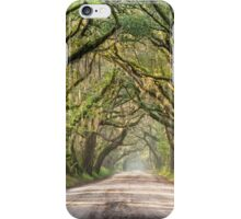 Charleston South Carolina Southern Dirt Road Regional Character iPhone Case/Skin