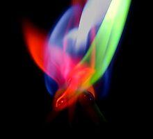 Burning flames by carlw