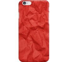 Wrinkled Crumpled Paper Texture - Red  iPhone Case/Skin