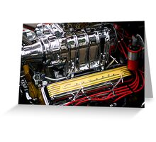 Corvette Engine Greeting Card