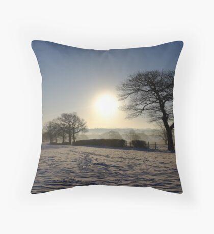 Snow Scene Throw Pillow