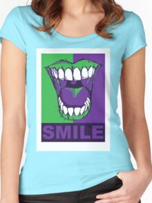 SMILE purple Women's Fitted Scoop T-Shirt
