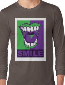 SMILE purple Long Sleeve T-Shirt