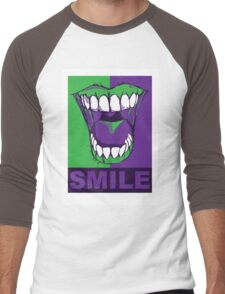 SMILE purple Men's Baseball ¾ T-Shirt