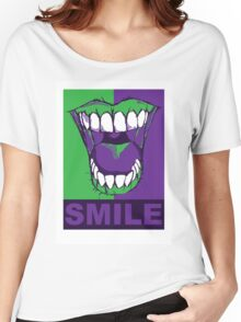 SMILE purple Women's Relaxed Fit T-Shirt