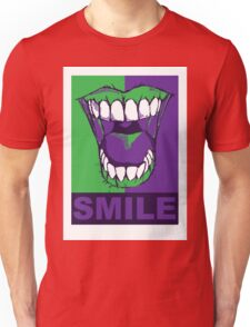 SMILE purple Unisex T-Shirt