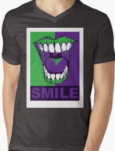 SMILE purple Mens V-Neck T-Shirt
