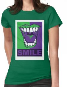 SMILE purple Womens Fitted T-Shirt