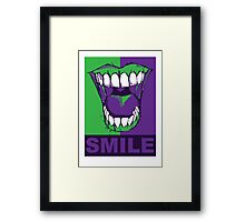 SMILE purple Framed Print