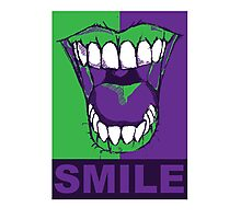 SMILE purple Photographic Print