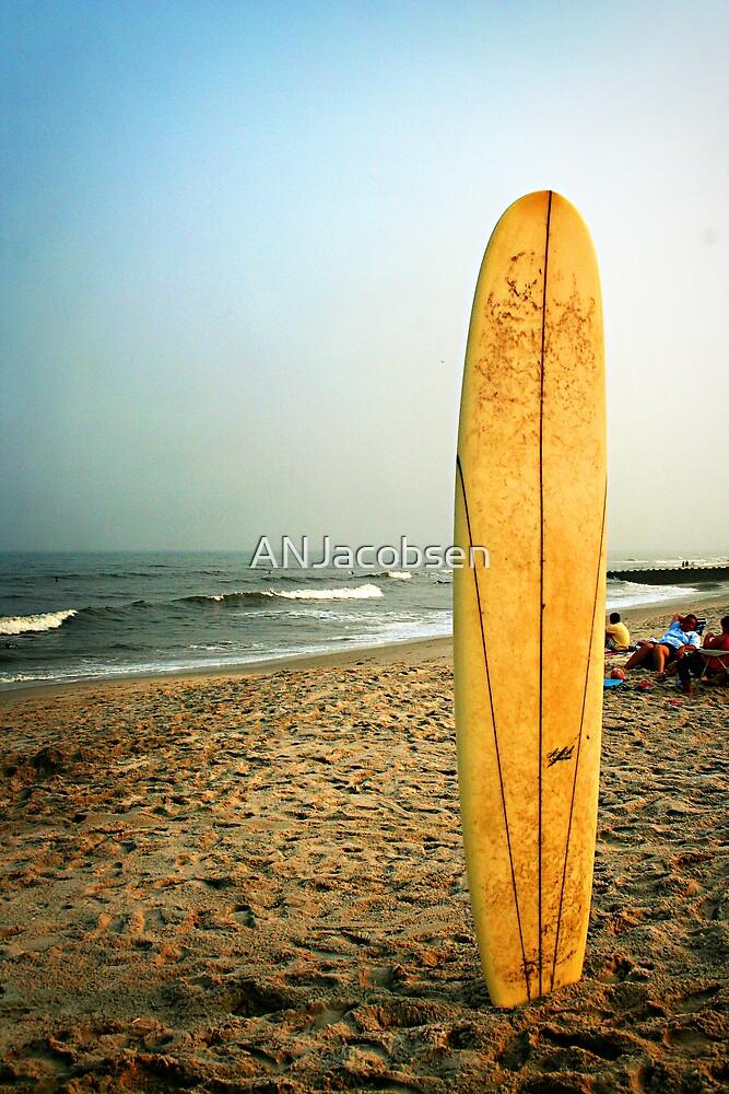 Long Beach Island Sufboard at Sunset by ANJacobsen