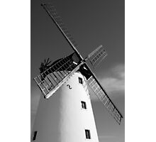 WINDMILL IN BLACK AND WHITE Photographic Print