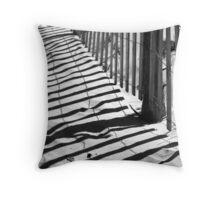 Dune Fence Shadows Throw Pillow